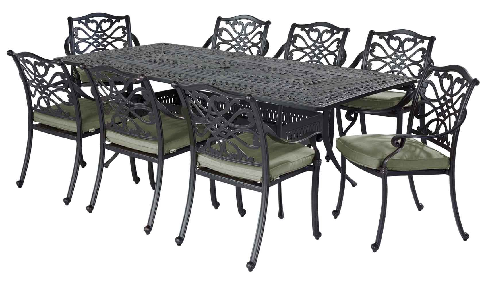 cast aluminium garden furniture hartman capri 8 seater cast aluminium rectangle garden set with wheatgrass TLVHMYP