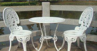 cast aluminium garden furniture set ~~ table and 2 chairs ~~ BGTCKOX