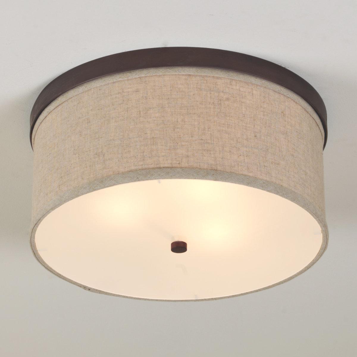 ceiling light shades springfield linen shade ceiling light bronze NTAFBLR