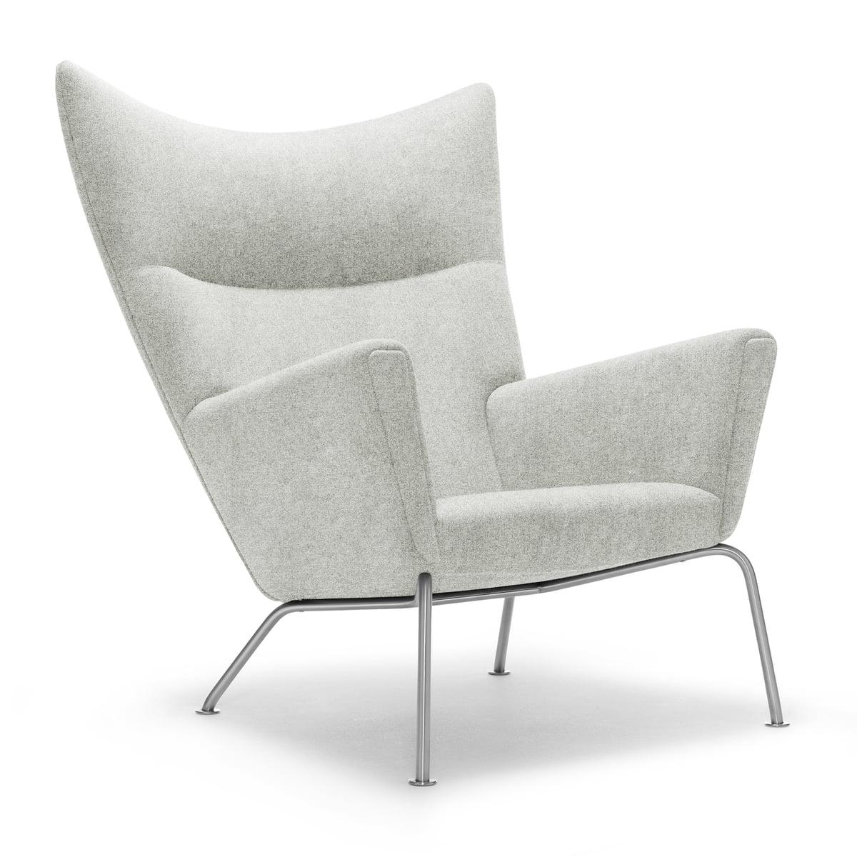 ch445 wing chair divina melange 2 col. 120 by carl hansen TERJVLI