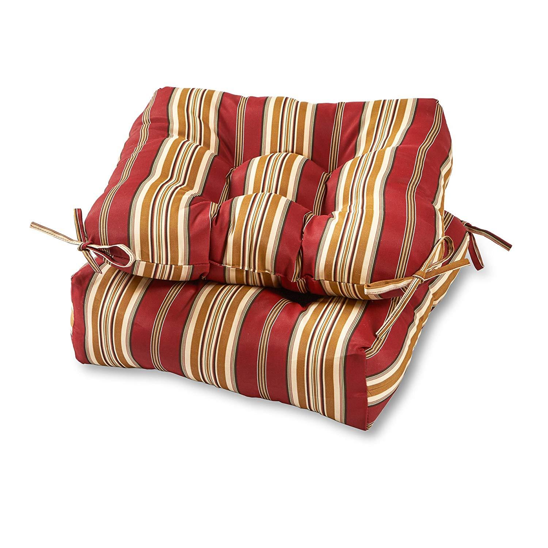 chair cushions amazon.com: greendale home fashions 20-inch outdoor chair cushion (set of LZKQHFJ