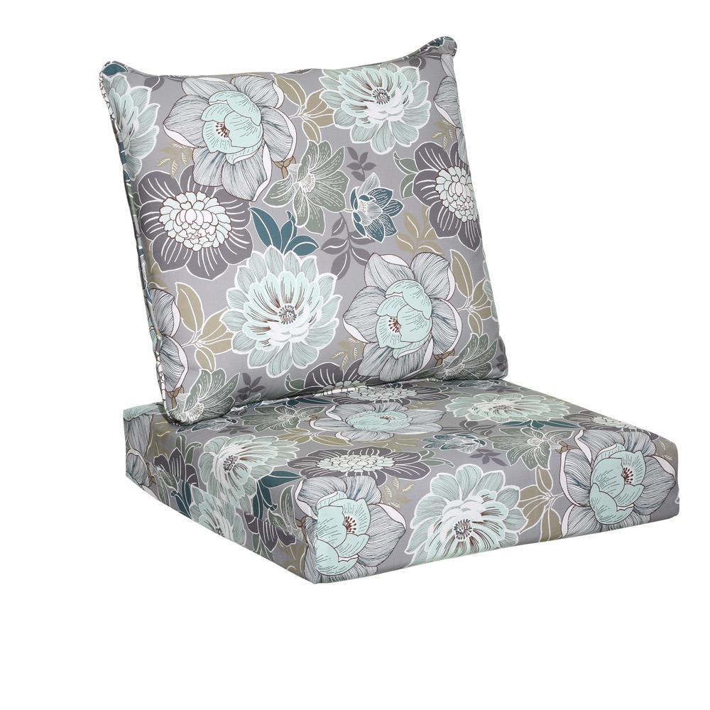 chair cushions hampton bay charleston floral 2-piece deep seating outdoor lounge chair BWPWEII