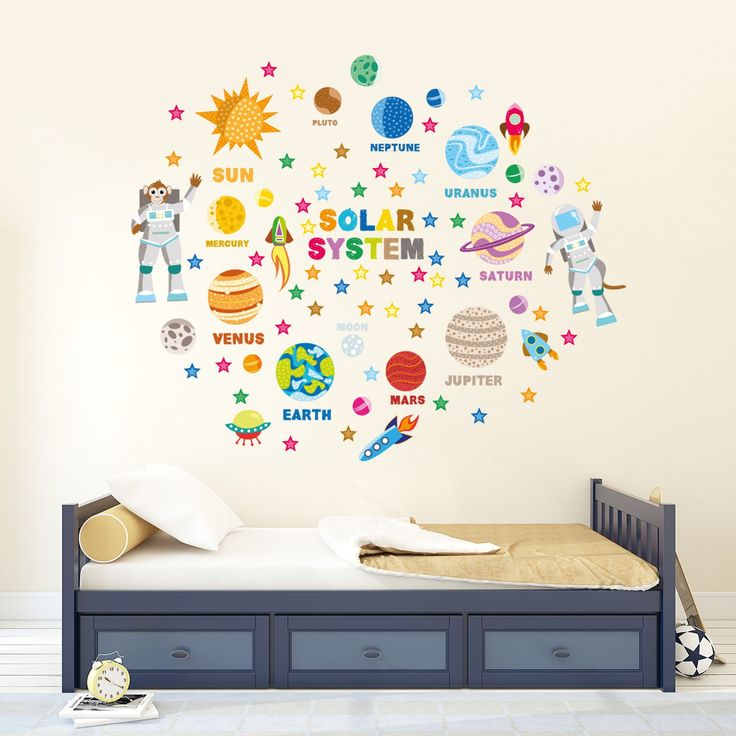 children wall stickers solar system wall decals for kids rooms - disney studio was OJEFFCT