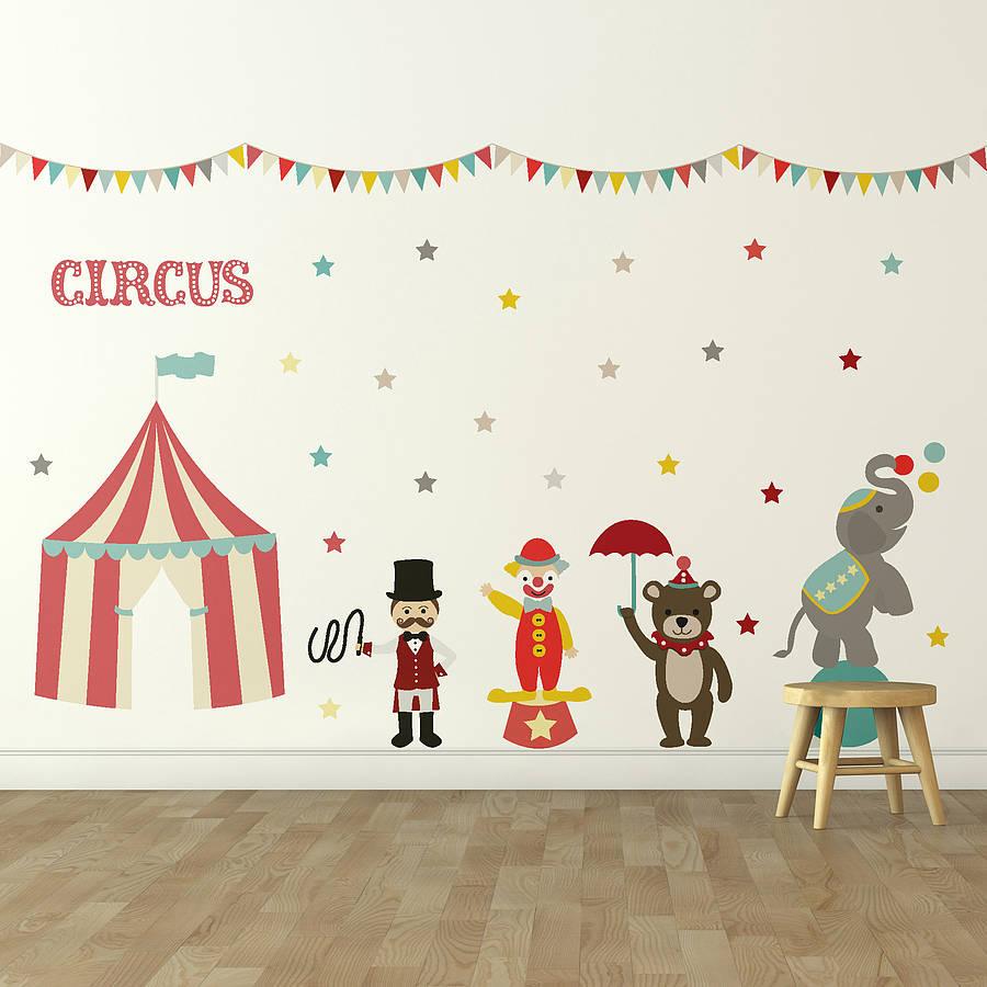 children wall stickers u0027childrenu0027s circusu0027 wall sticker set. u0027 YQABXDL