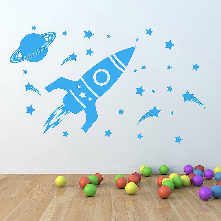 children wall stickers u0027childrenu0027s space setu0027 wall sticker. u0027 XXYQWHJ