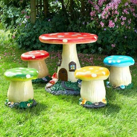 childrens garden furniture childrens toadstool table and chair set - coast u0026 country store EMKAECG