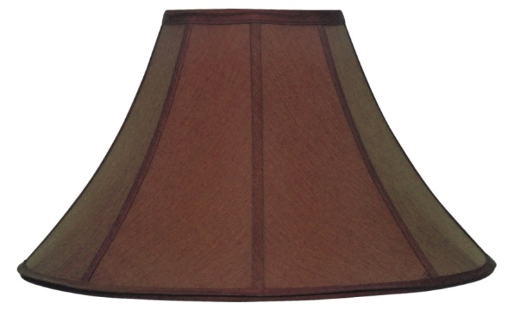 chocolate brown coolie lamp shade 16-22 DCULKIK