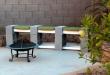 cinder block bench ILLTKIP