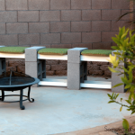 Decorate Your House with Cinder Block Bench