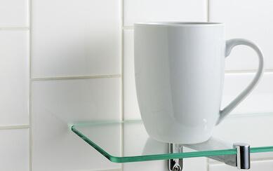clear glass shelf GHVQIPG