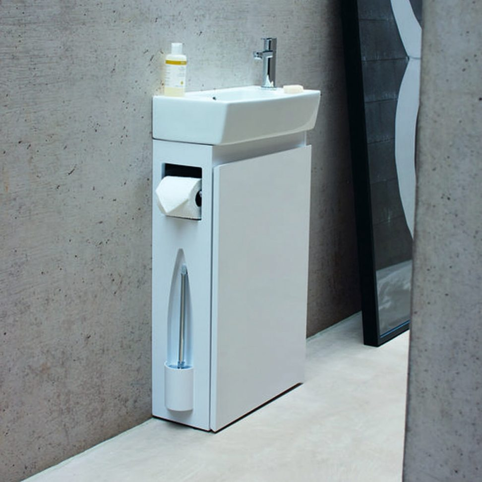 cloakroom vanity unit photo 2 of 9 britton bathrooms all-in-one floor standing cloakroom vanity UYVDIQZ