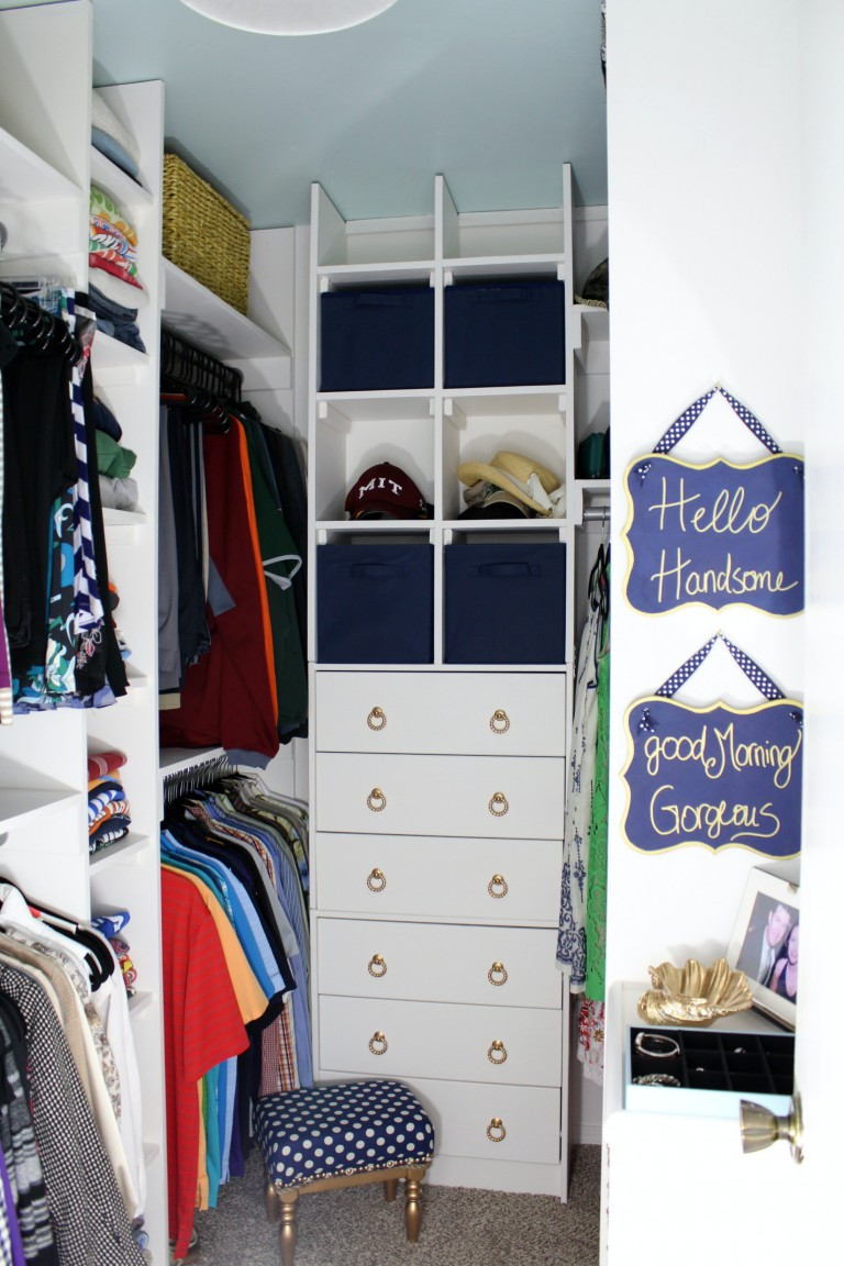 closet makeover ideas walk-in-closet-makeover-at-frazzled-joy KPEYNRJ
