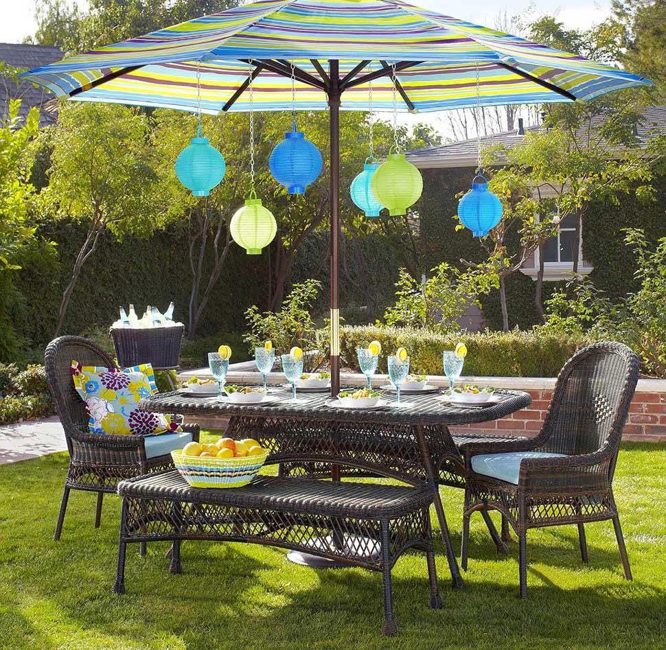 colorful garden umbrellas modern backyard design with winsome colorful striped patio umbrella,  espresso SDHVSTU