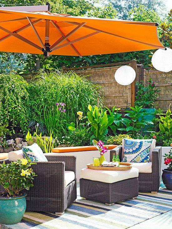 colorful garden umbrellas stylish decorative touches for outdoor rooms XEIRDZA