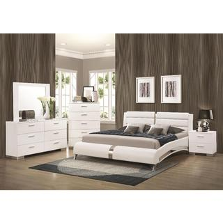 contemporary bedroom sets oliver u0026 james nash 6-piece white bedroom set IAYJAYZ