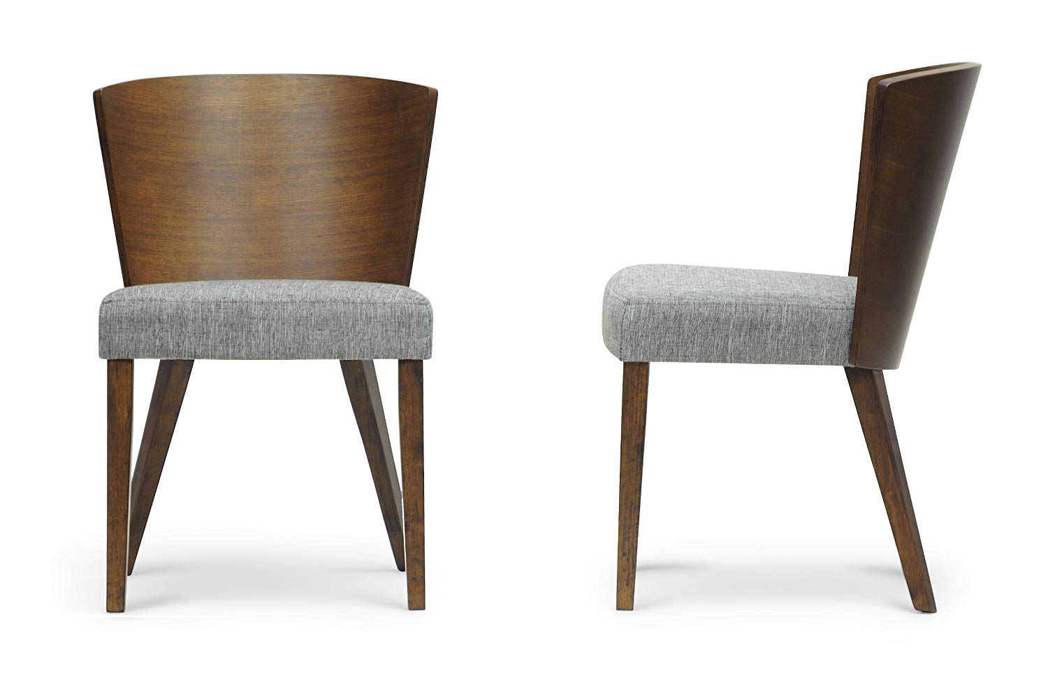 contemporary dining chairs amazon.com - baxton studio sparrow wood modern dining chair, brown, set EEYIQKV
