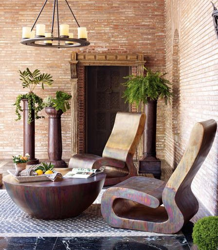 contemporary outdoor furniture from horchow VKREQSD