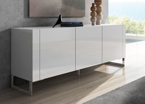 contemporary sideboards tres sideboard a sleek modern sideboard with plain handle-less doors, CHFTAJK