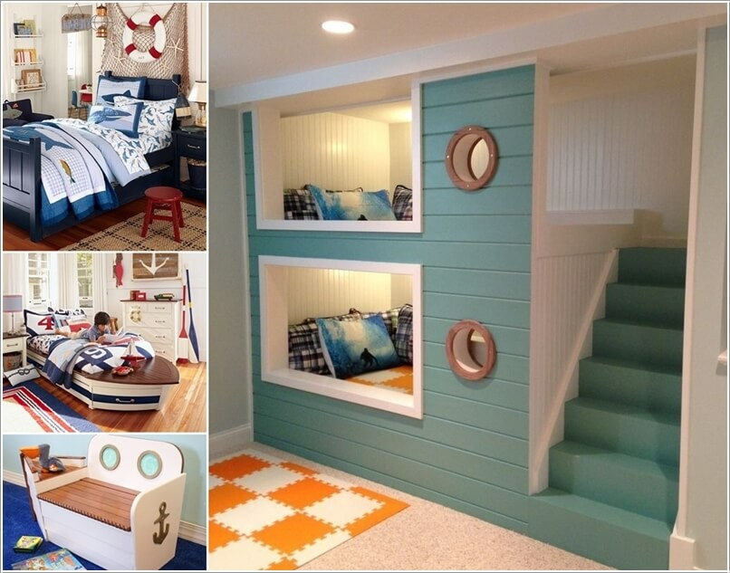 cool kids room ideas 10 cool nautical kidsu0027 bedroom decorating ideas a MOHVYGT