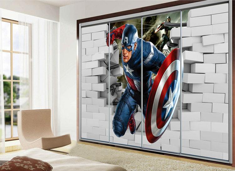 cool wall murals 3d captain america wallpaper avengers photo wallpaper cool wall mural boys LAQNACV