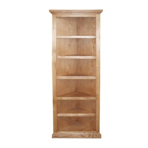 corner bookshelf fd-6704t - traditional oak corner bookcase 20 CGIBMOK