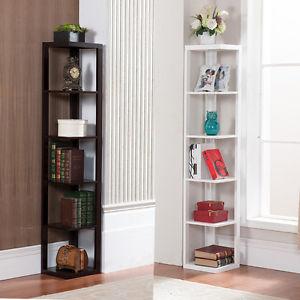 corner bookshelf image is loading 5-tier-bookcase-wall-corner-bookshelf-storage-rack- JLRZXQS