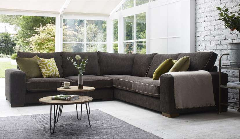 corner sofas ashdown medium corner sofa - super grand + medium unit in GKHCTXC