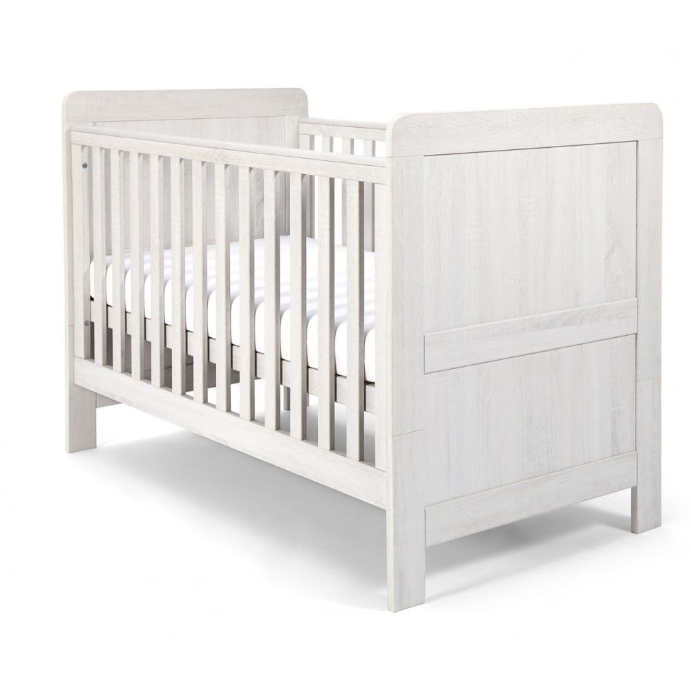 cot beds atlas cot bed - nimbus white WKUXLLN