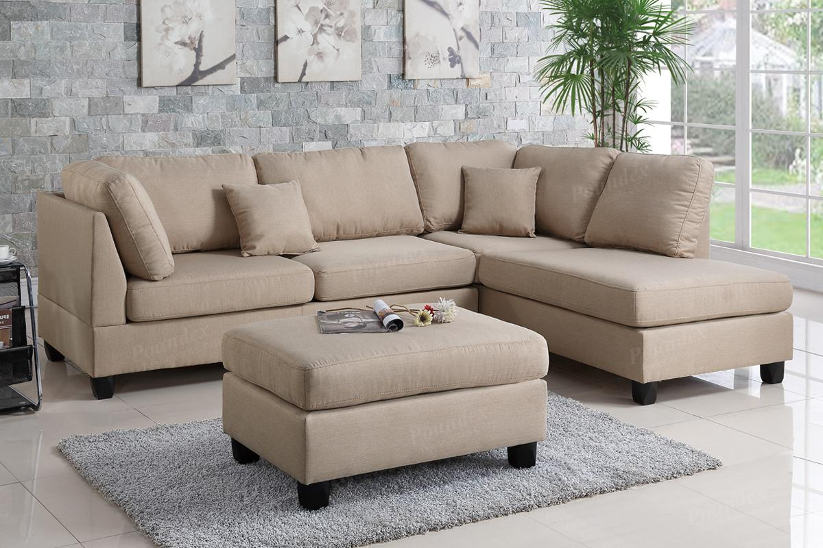 courtney brown fabric sectional sofa and ottoman QFBYKHP