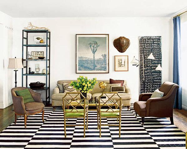 creative living room design view in gallery chicago apartment of nate berkus YXKUWJK