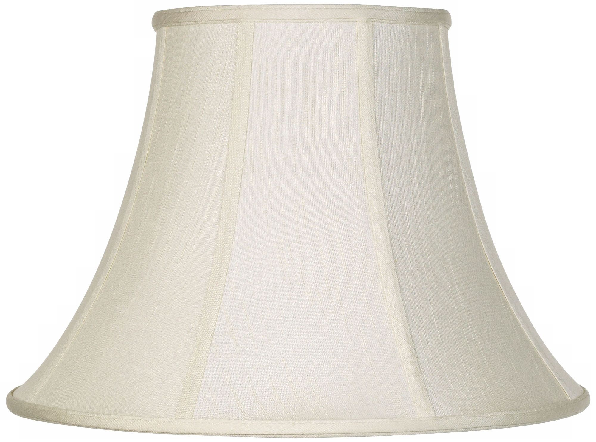 creme bell lamp shade 9x18x13 (spider) HOMENIU