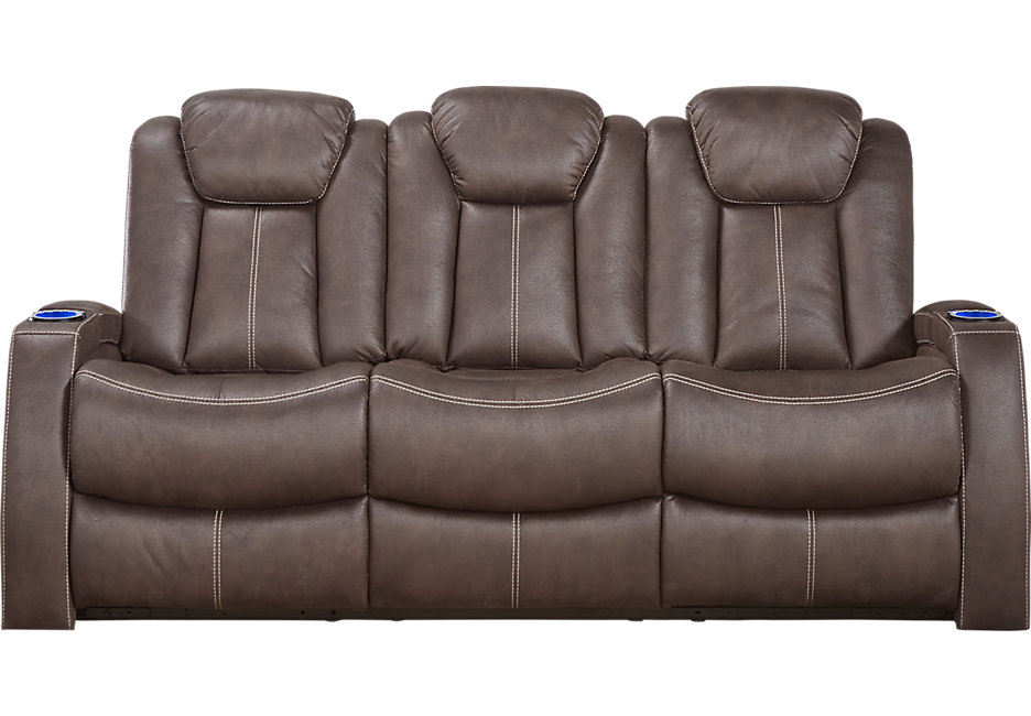 crestline chocolate power plus reclining sofa - reclining sofas (brown) NNWSGTM