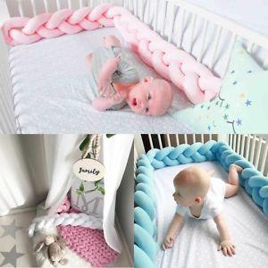 crib bumper image is loading baby-infant-plush-crib-bumper-bed-bedding-cot- KEZAFWS
