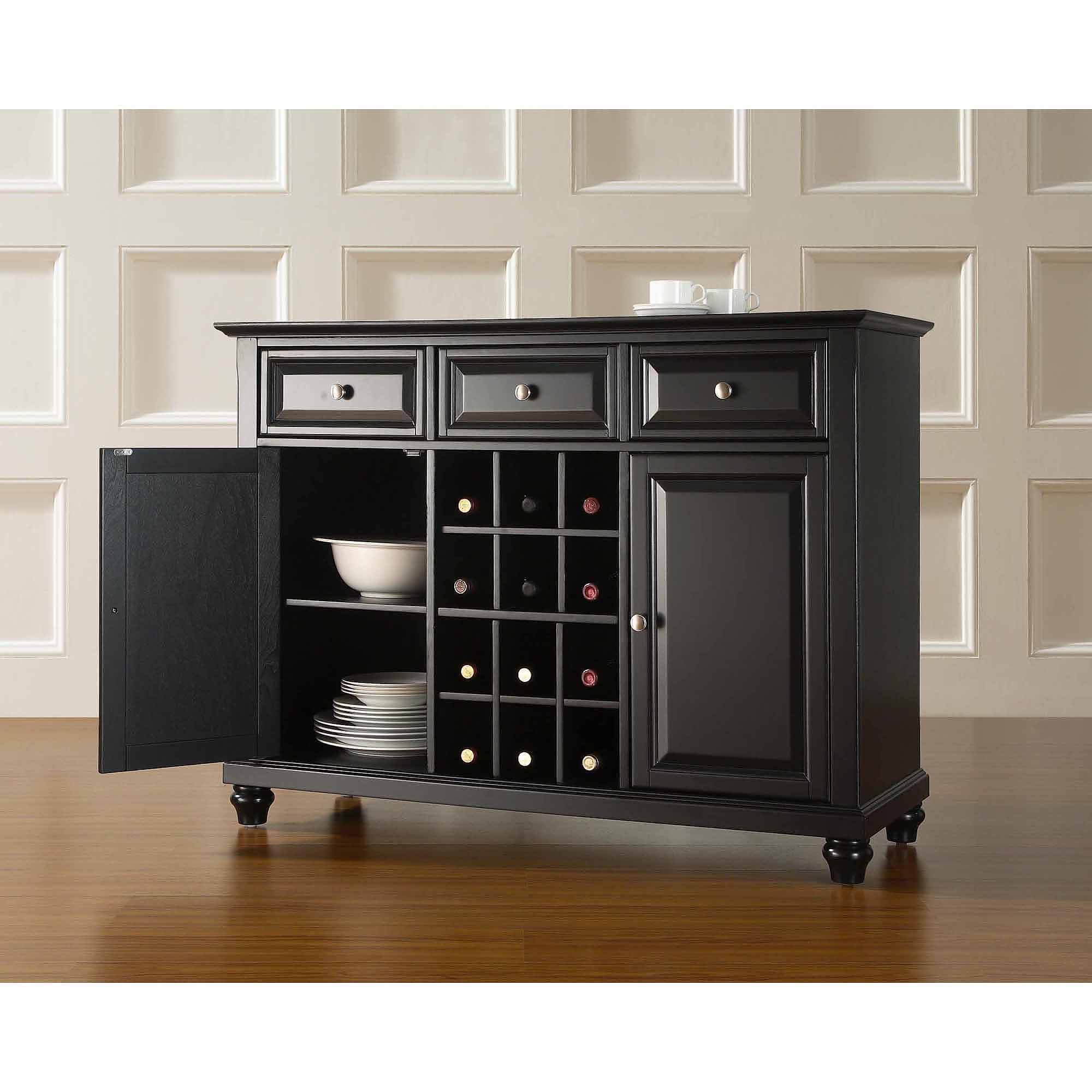 crosley furniture cambridge buffet server and sideboard cabinet with wine LHYYNKD