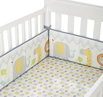 cuddletime globetrotter crib bumper, gray IAXXOVF