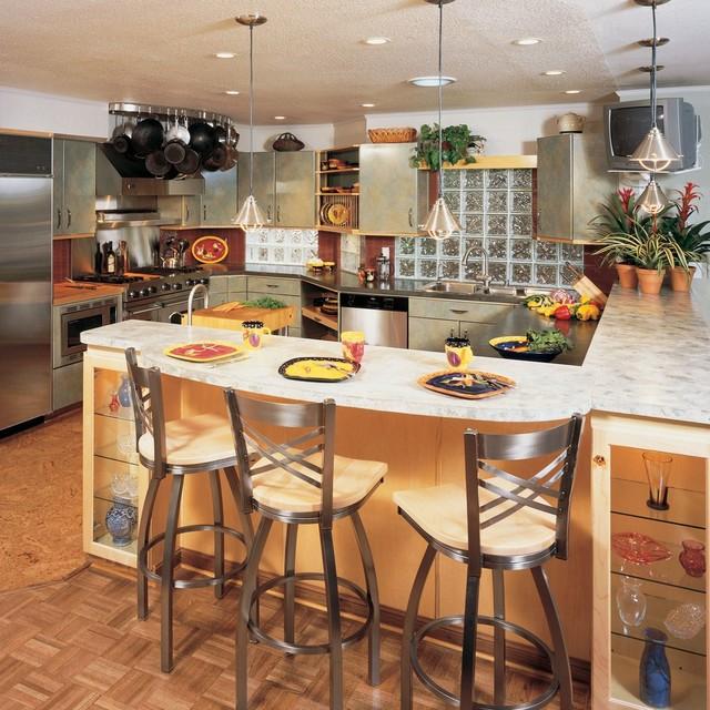 current kitchen bar stools contemporary-kitchen FYOYFYI