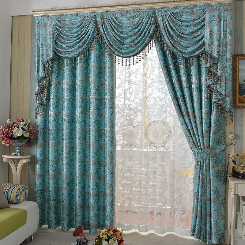 curtain patterns faux suede curtains jacquard pattern blackout curtain HXWSHPC