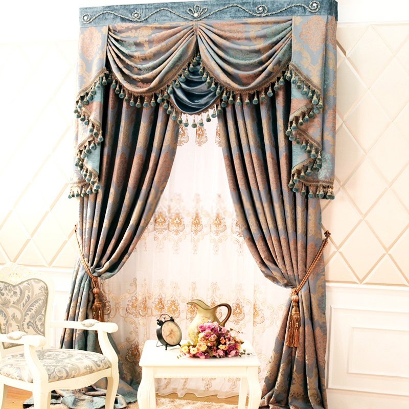 curtain patterns retro style curtains with delicate patterns of chenille GUZMAWV