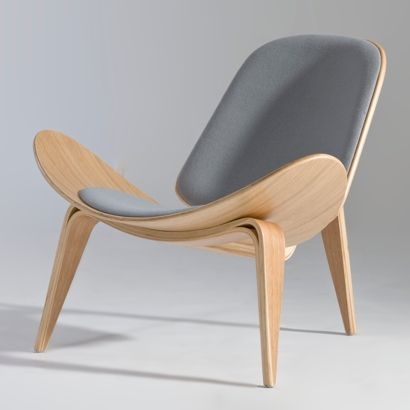 designer chairs hans j. wegner- shell lounge chair | furniture design | chair XHEFNUW