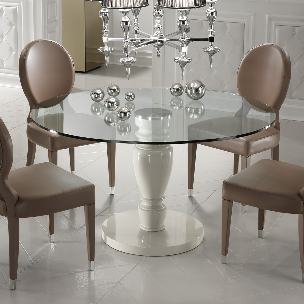 designer round glass dining table IFMXHSL