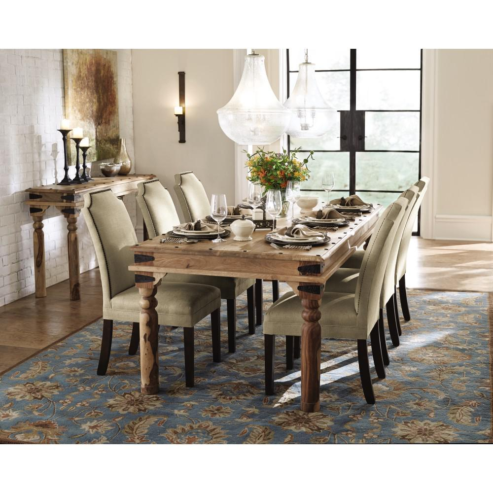 dining tables home decorators collection fields weathered brown dining table EQZKZSP