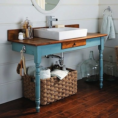 dıy bathroom vanity blue diy bathroom vanity OPKVVVV
