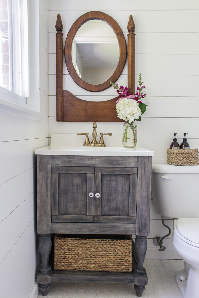 dıy bathroom vanity diy bathroom vanity - featuring shades of blue interiors TSXWMJN