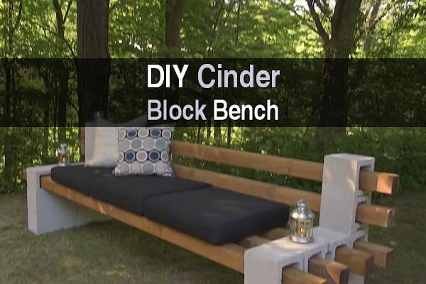 diy cinder block bench - homestead survival site OSQAWXD