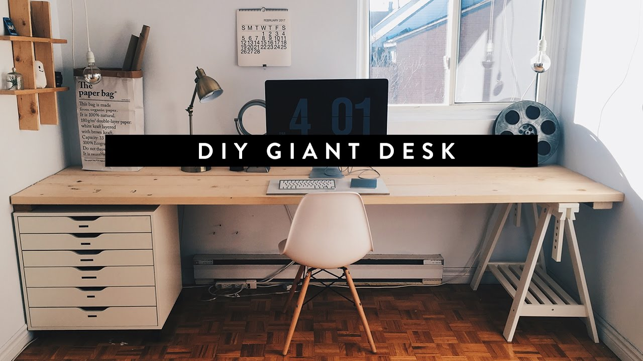 diy giant home office desk BNKQUPH