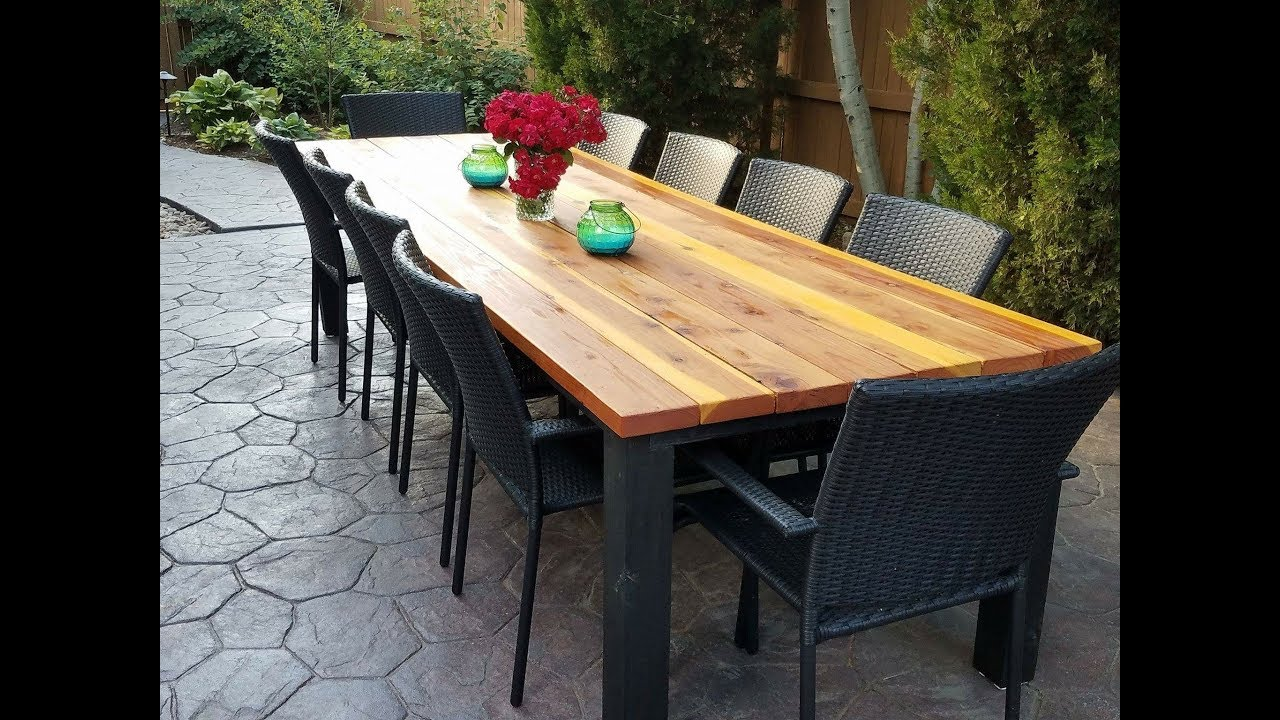 diy outdoor dining table PLXPUFR
