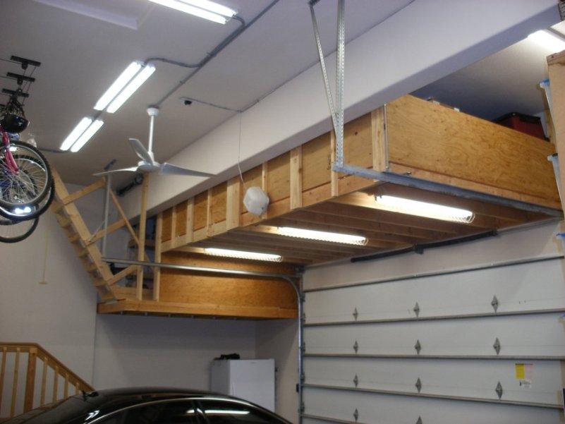 diy overhead garage storage TKTVBHV