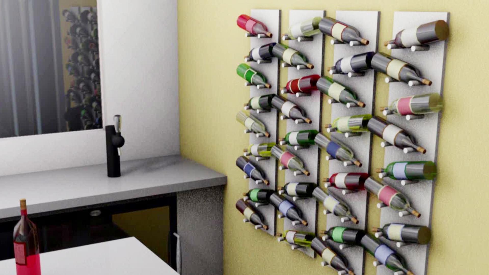 diy wine racks diy wall-mounted wine rack video | diy MTURDRB