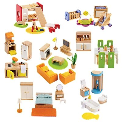 doll house furniture set complete wood dollhouse furniture set | onestepahead.com HSGYWJK