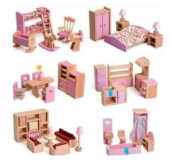 doll house furniture set extraordinary idea wooden dollhouse furniture sets wood josep homes  collection QXZGIFY